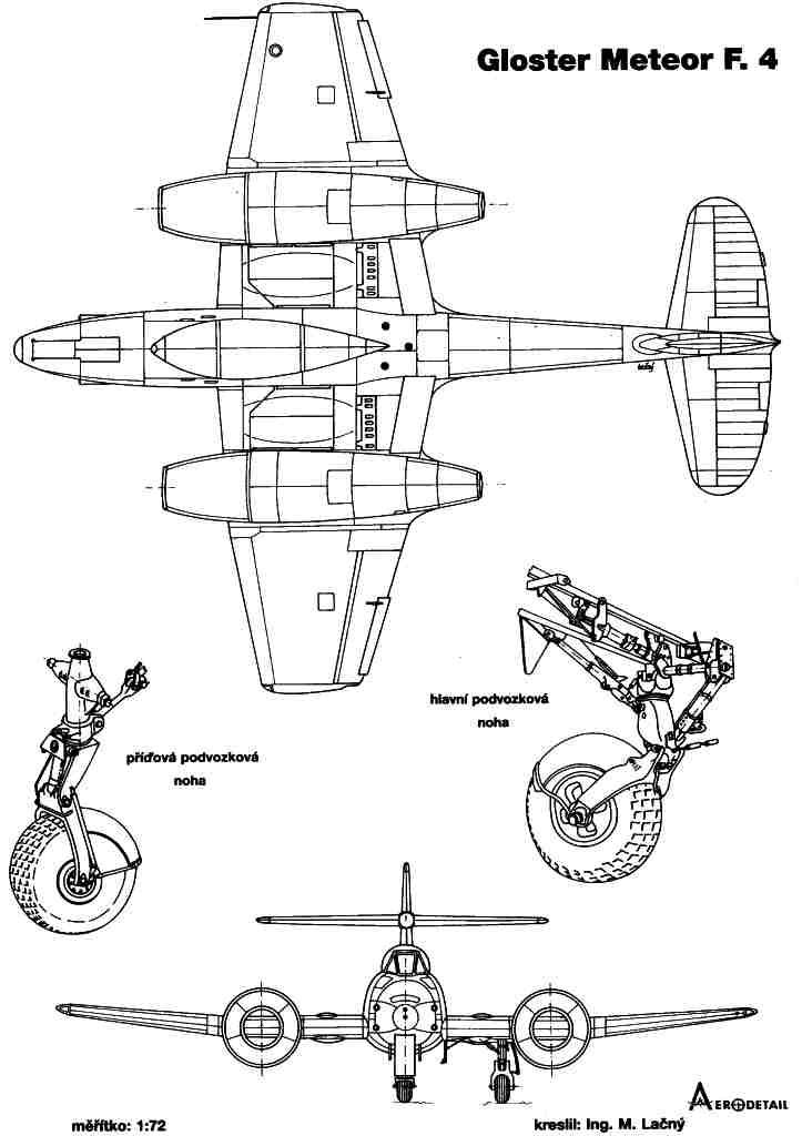 Gloster Meteor blueprint