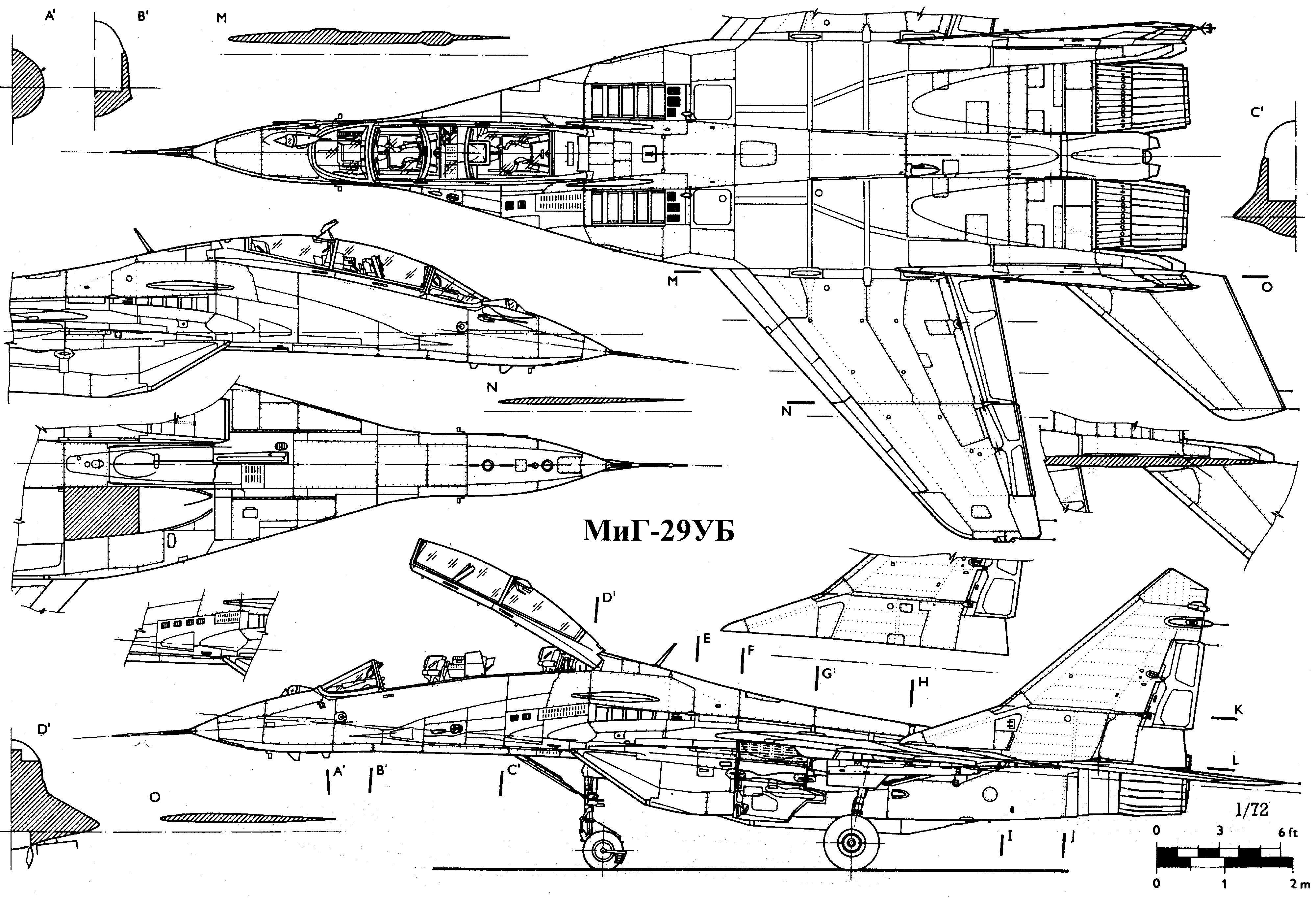MiG-29ub blueprint