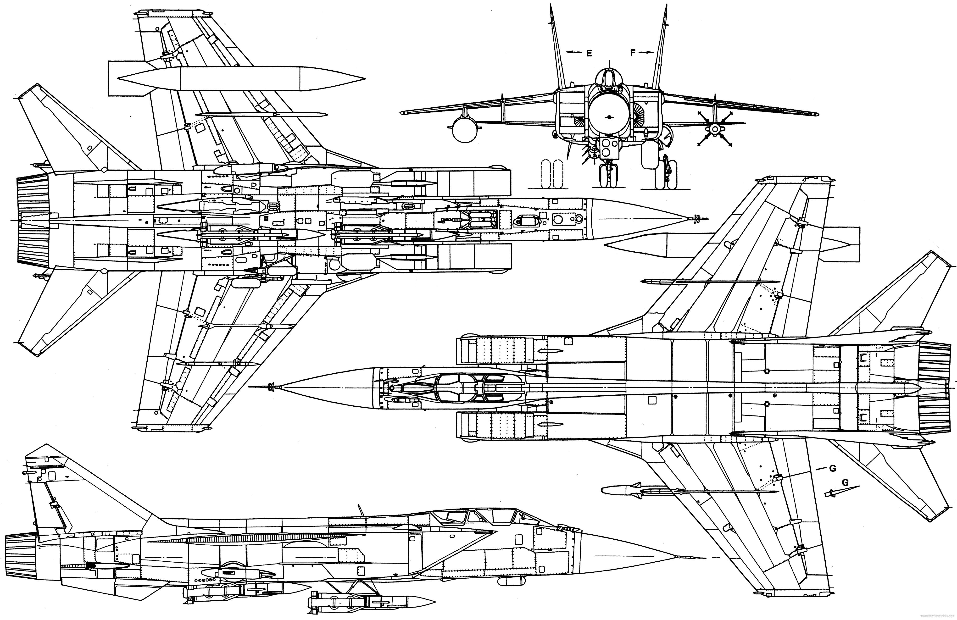 MiG-31 blueprint