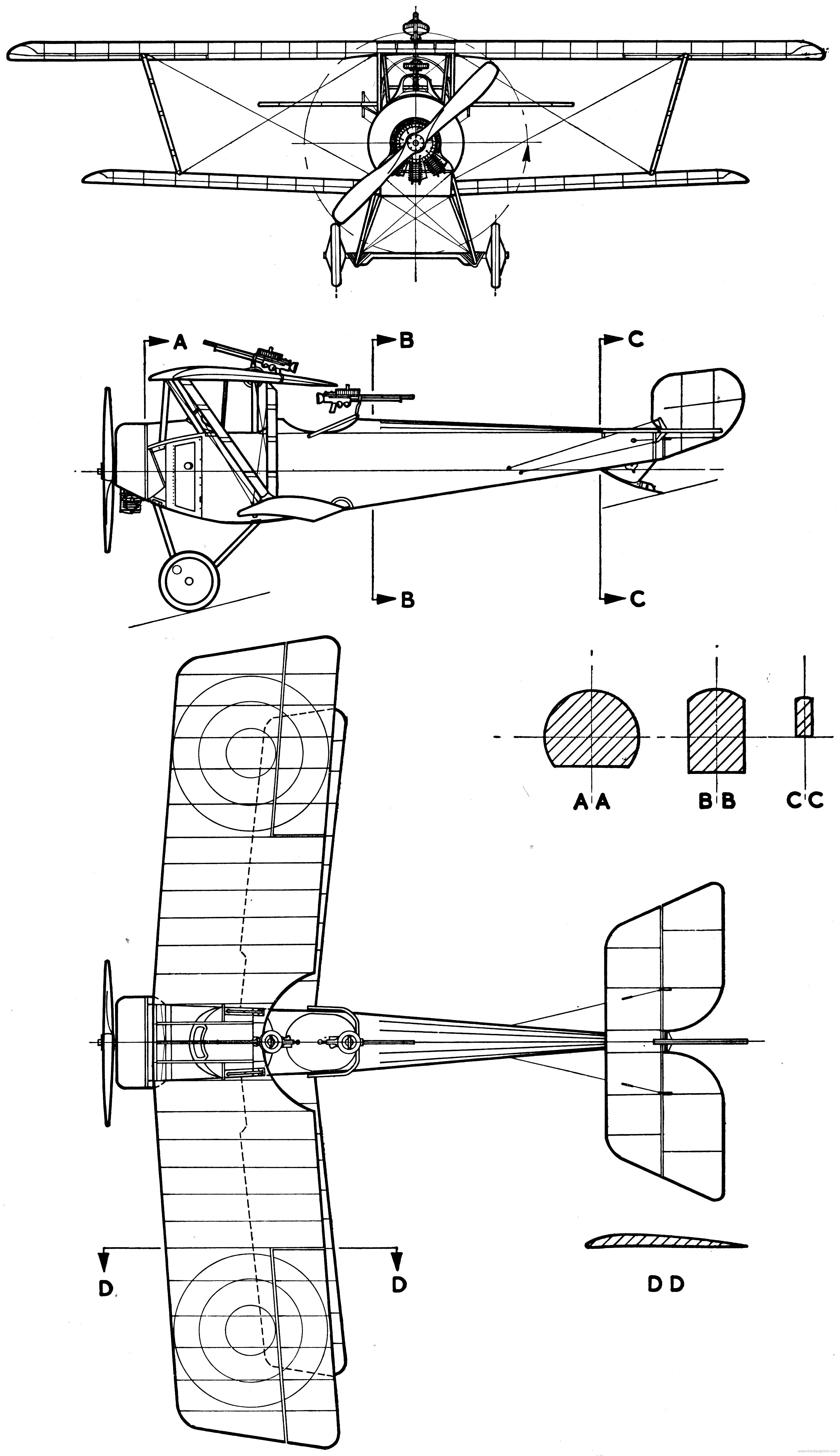 Nieuport 12 blueprint