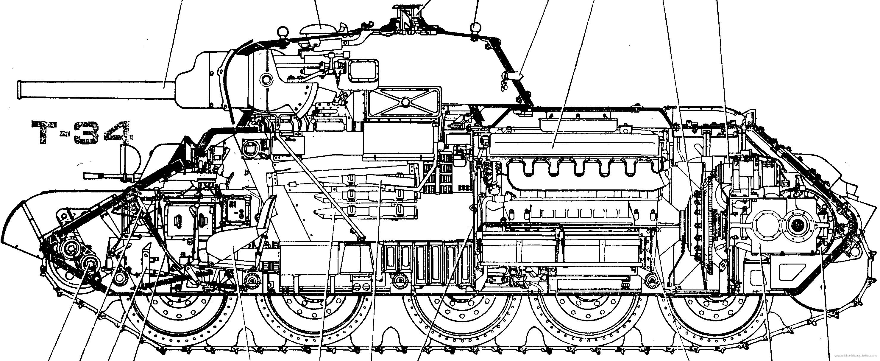 T-34 blueprint