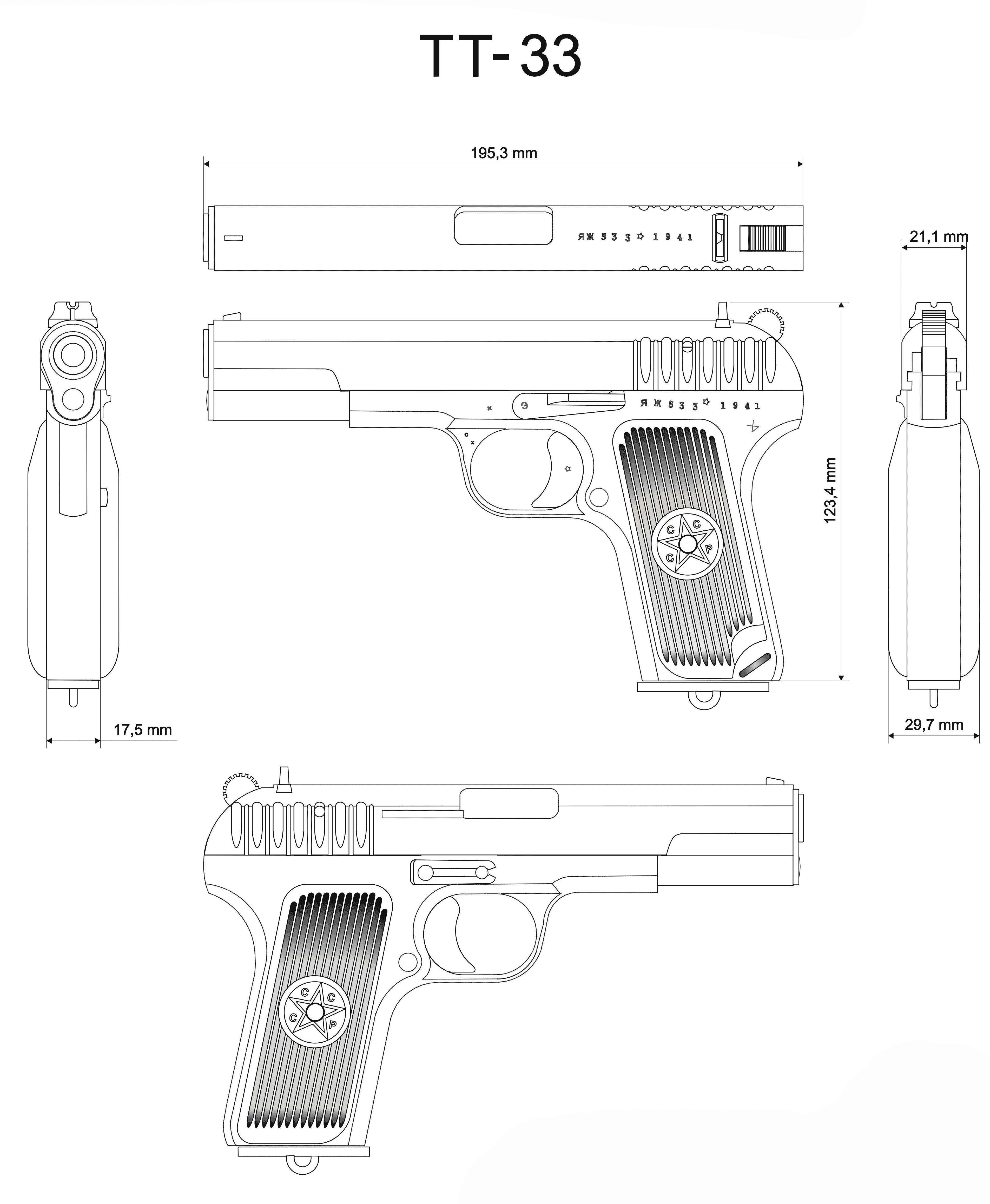 TT pistol blueprint