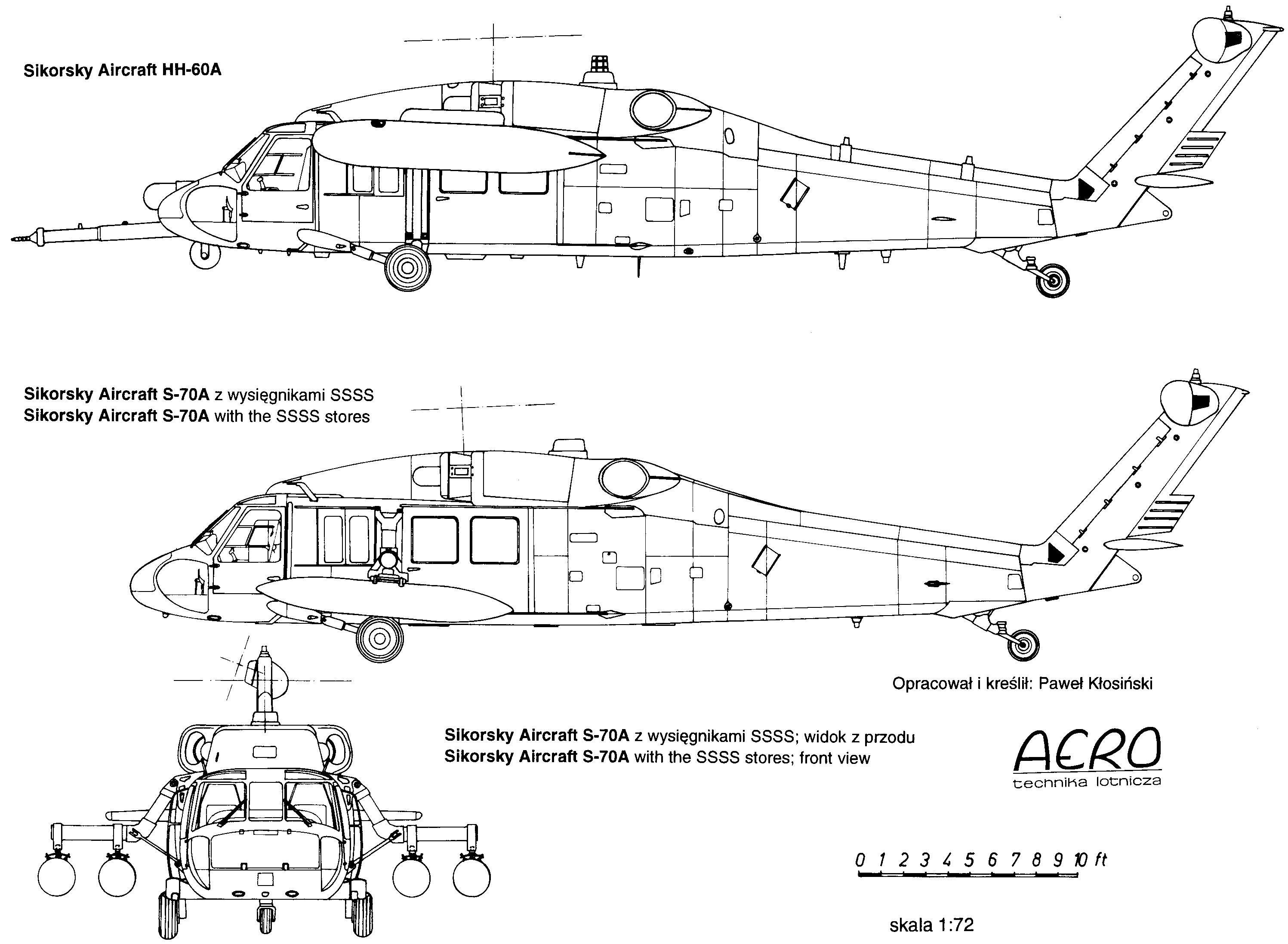 Sikorsky Uh 60 Black Hawk Blueprint Download Free