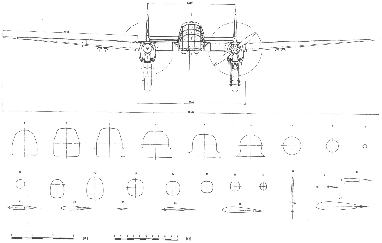 Fw 189 Uhu blueprint