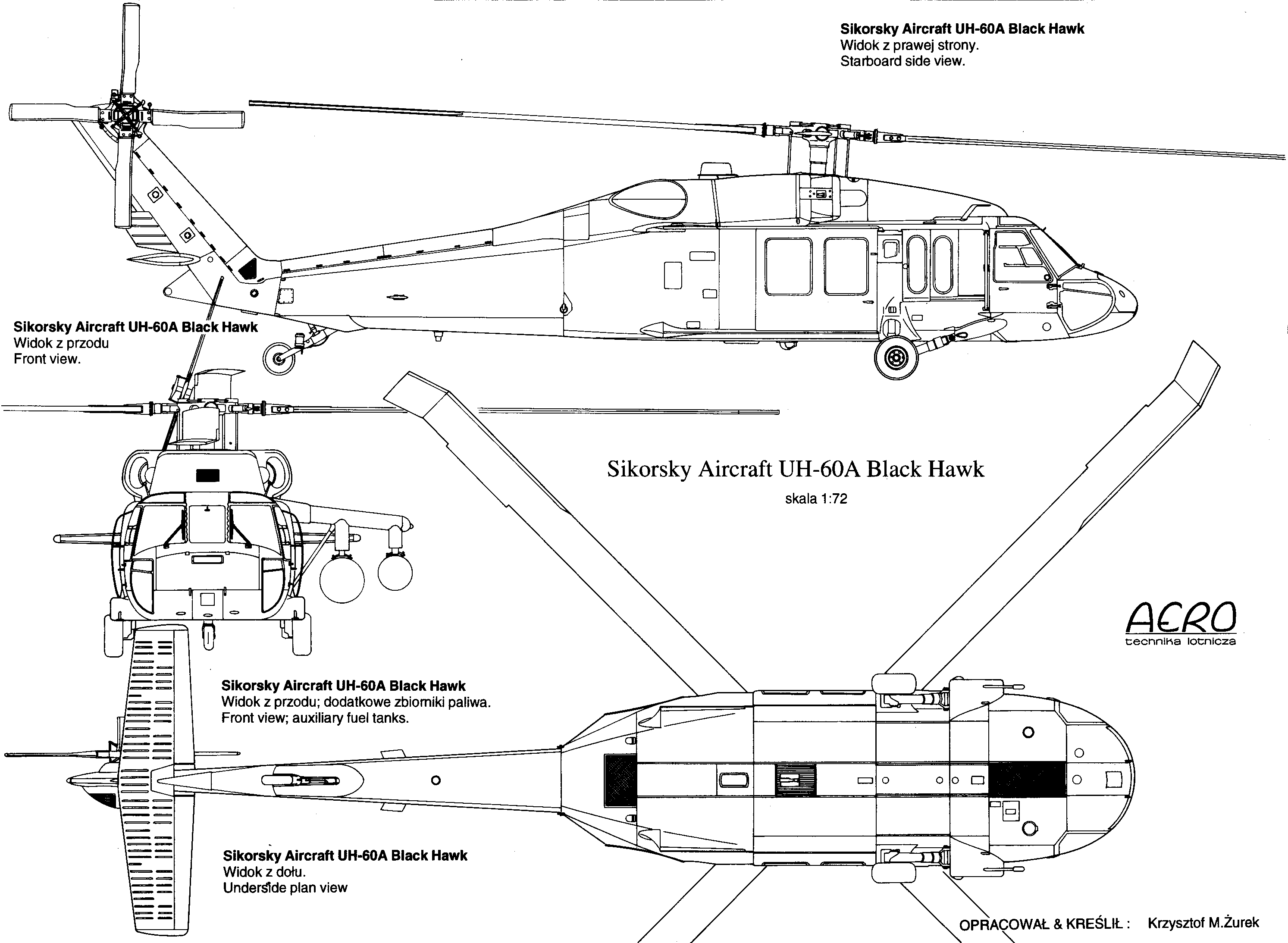 UH-60 Black Hawk blueprint