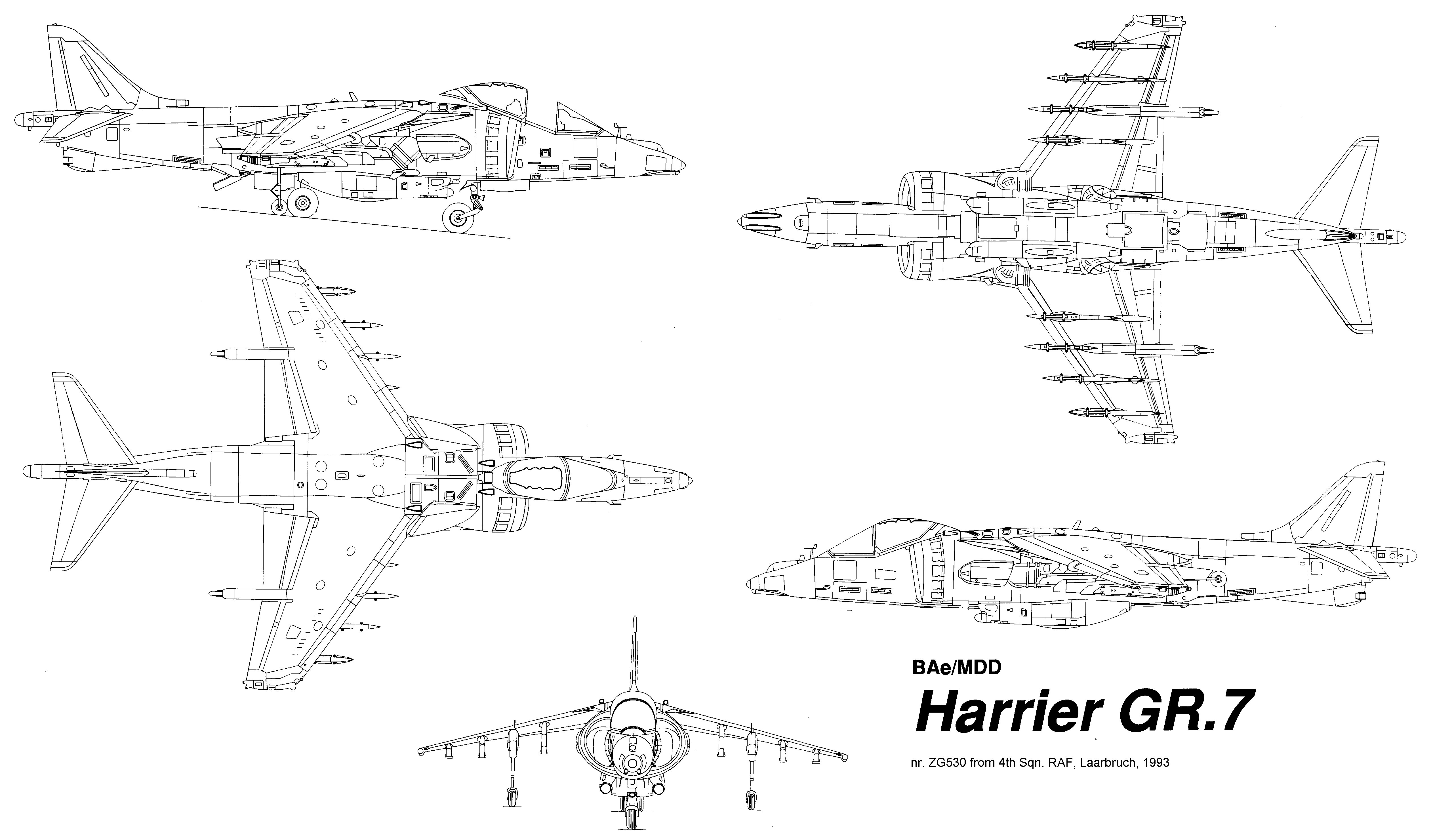 Blueprints For Harrier Jet Toy Airplane Videos 82