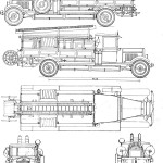ZIS-11 Fire truck blueprint