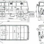 UAZ-450 blueprint