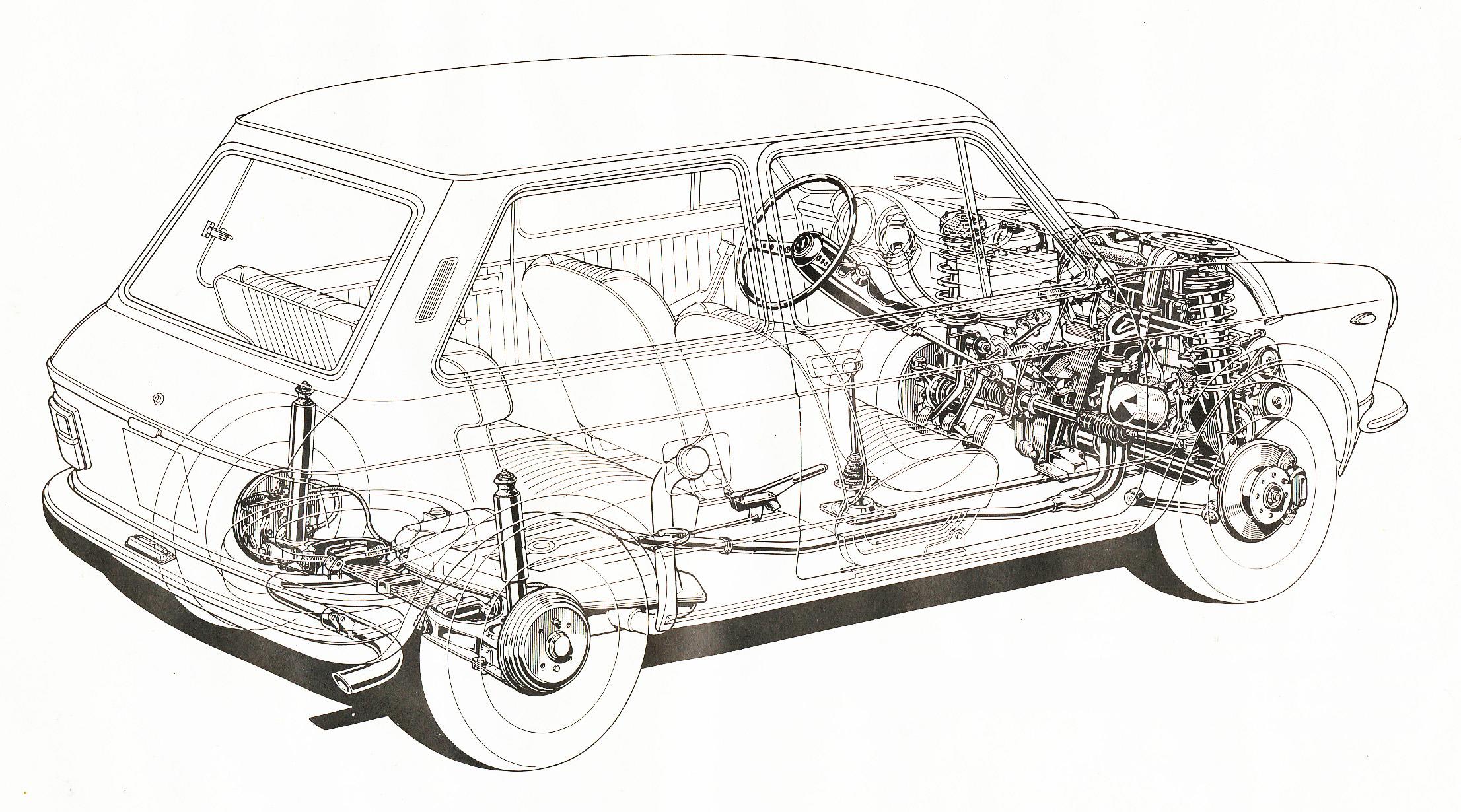 Autobianchi A112 blueprint