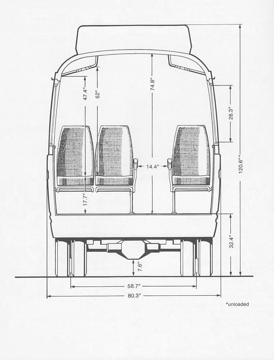 Mercedes-Benz O309D blueprint