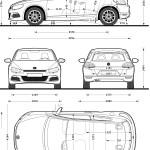 Volkswagen Scirocco blueprint