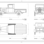 Ford Model B Pick-Up blueprint