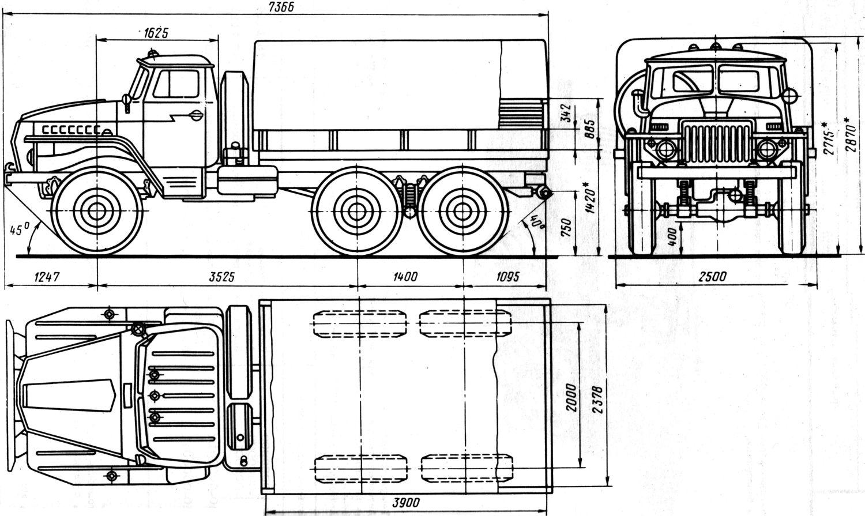 Ural-4320 blueprint