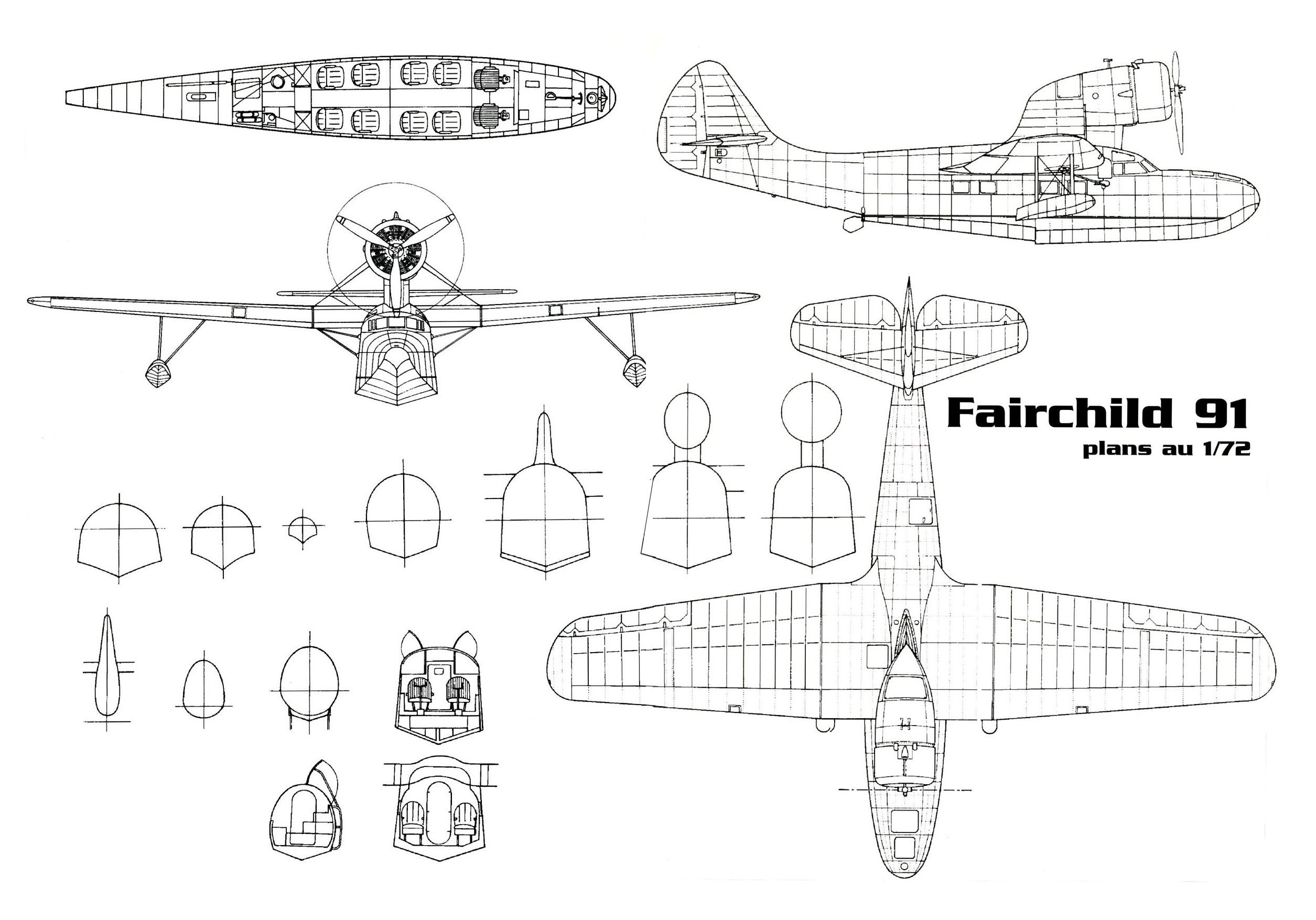 Fairchild 91 blueprints