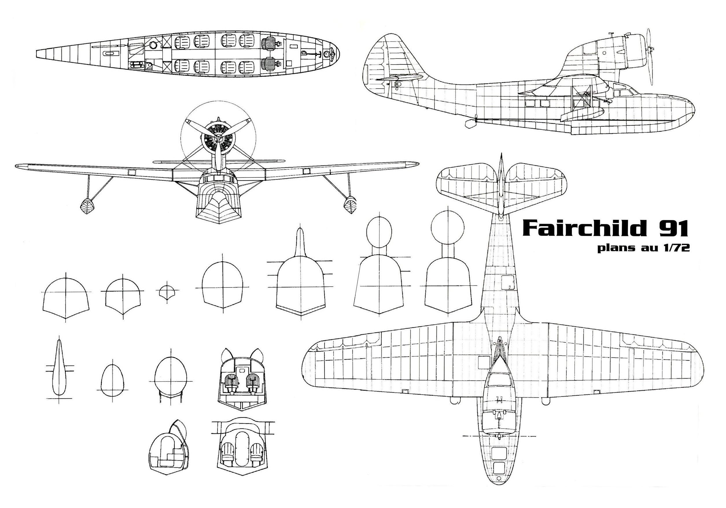 Fairchild 91 blueprints
