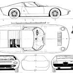 Lamborghini Miura blueprint