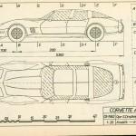 Chevrolet Corvette C3 blueprint