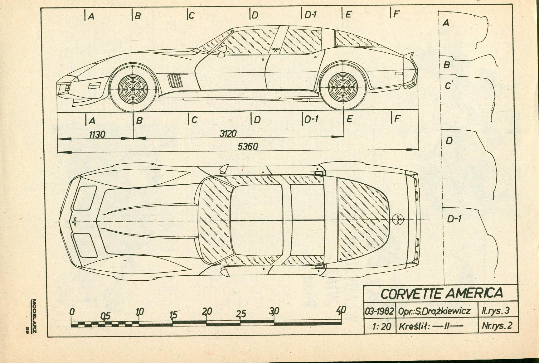 Chevrolet Corvette C3 blueprint