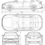 Audi S3 blueprint