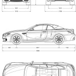 BMW M6 Cabriolet blueprint