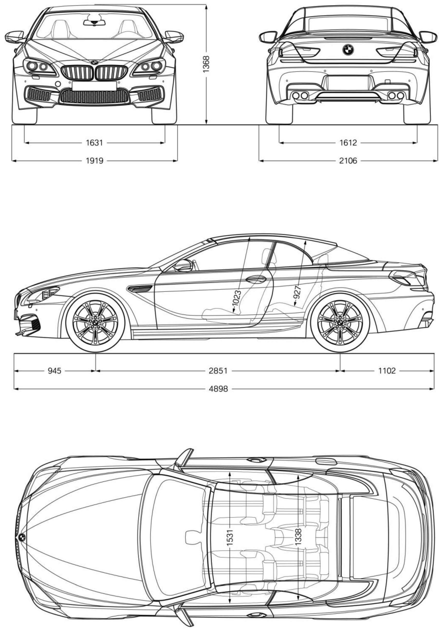 BMW M6 Cabriolet blueprint