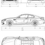 BMW M6 Coupe blueprint