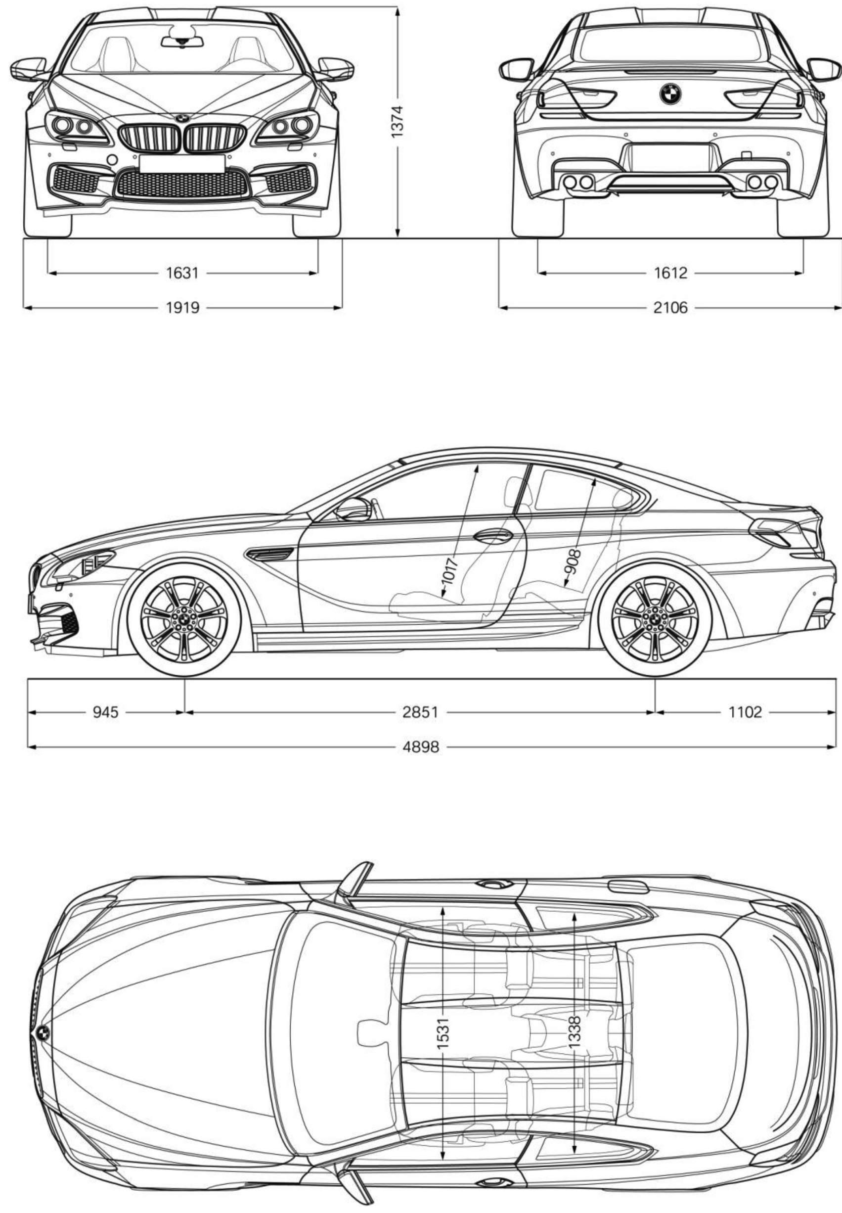BMW M6 Coupe blueprint