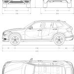 BMW X1 blueprint