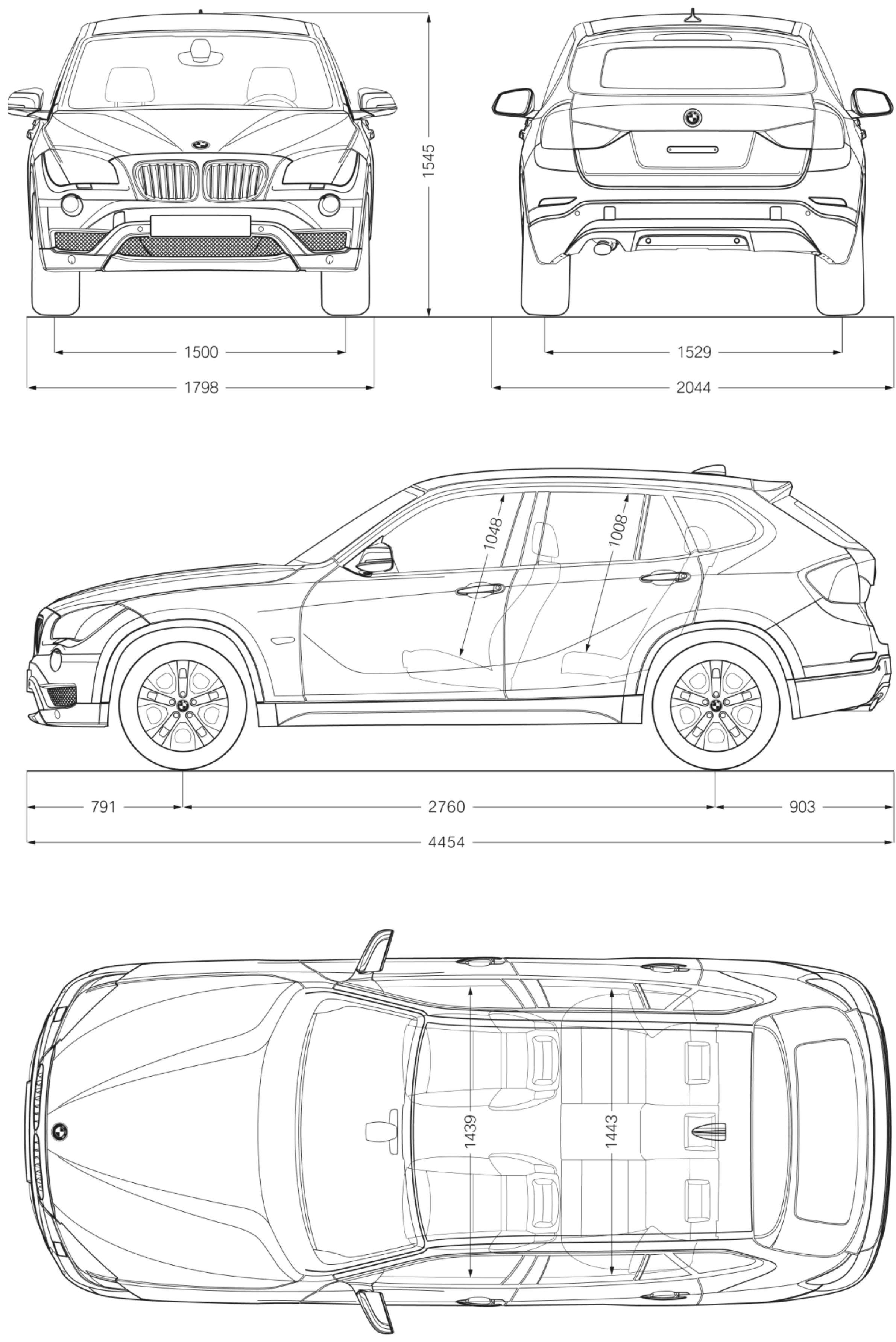 Bmw X1 2012 Blueprint Download Free Blueprint For 3d