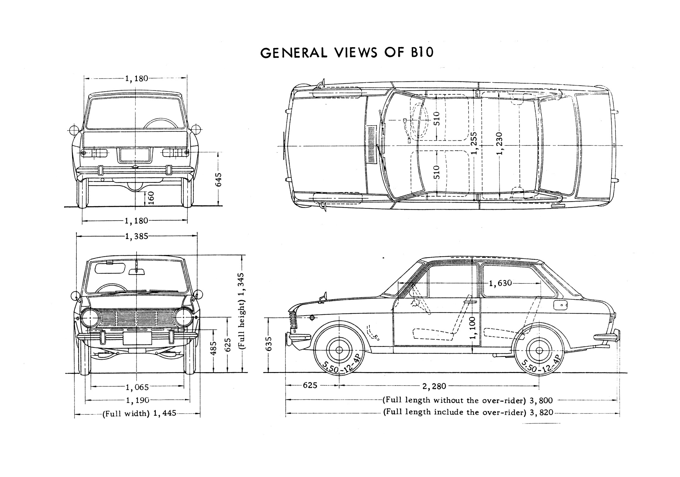 Datsun 1000 blueprint