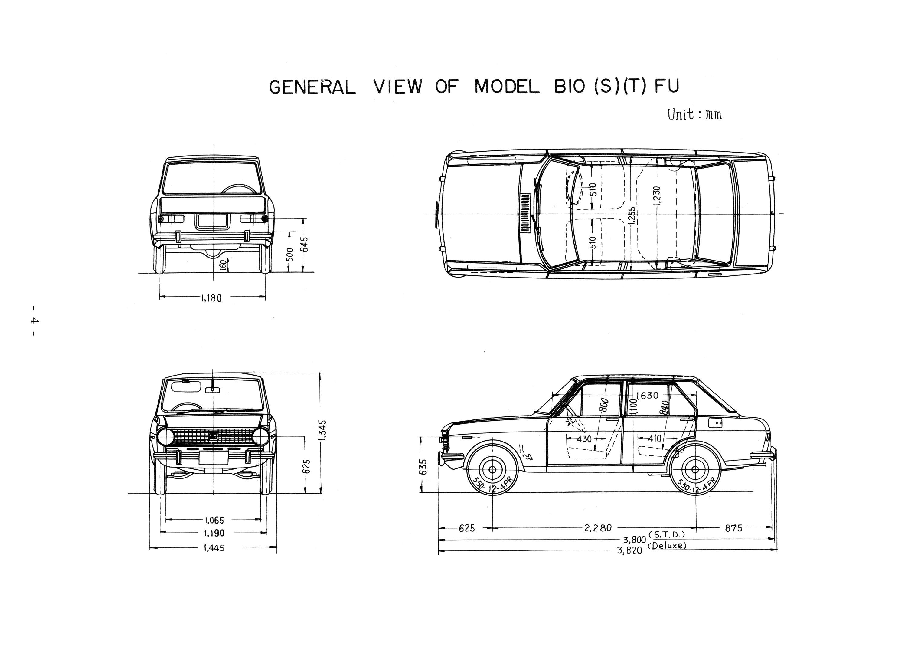 Datsun 1000 blueprint