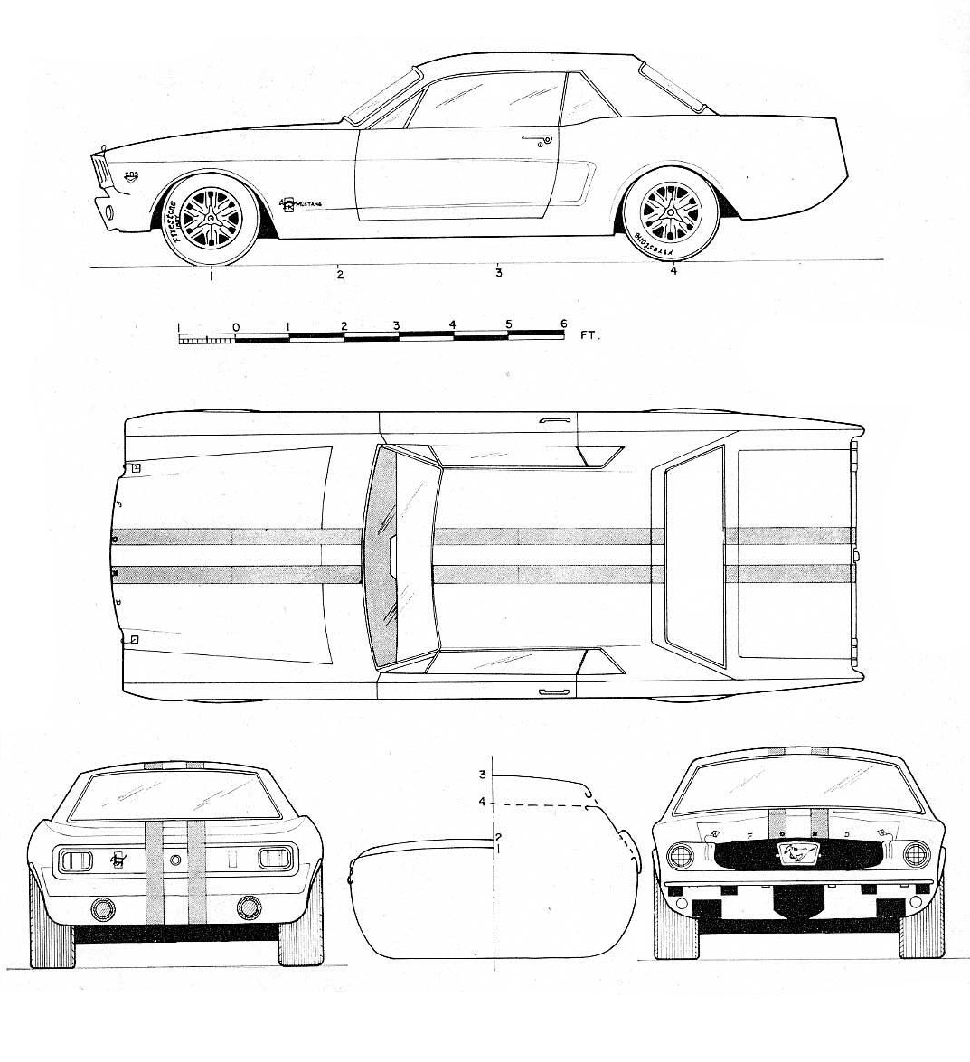 ford mustang 1965 blueprint