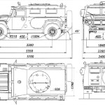 GAZ-233014 blueprint