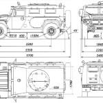 GAZ-233014 blueprint