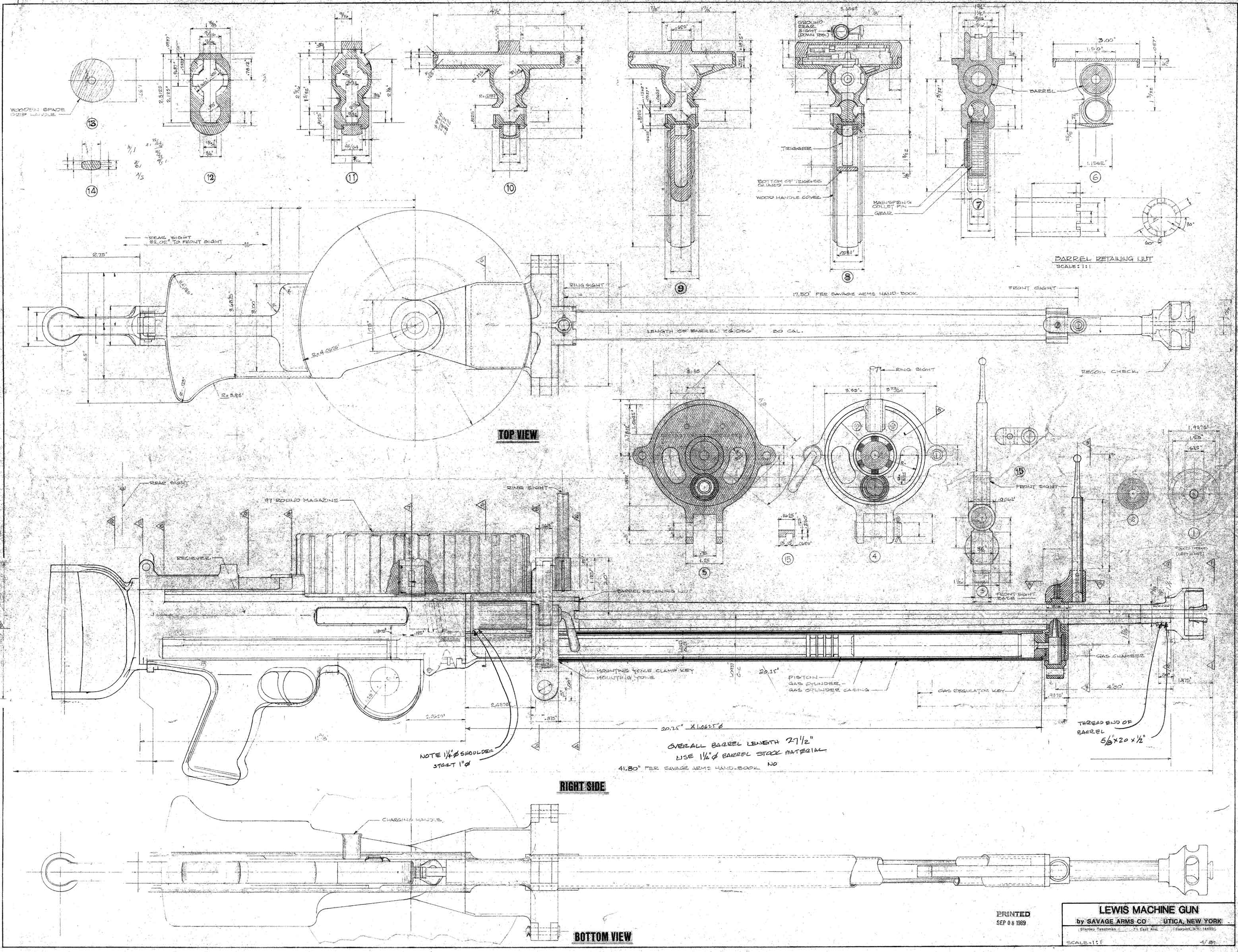 Lewis machine gun blueprint