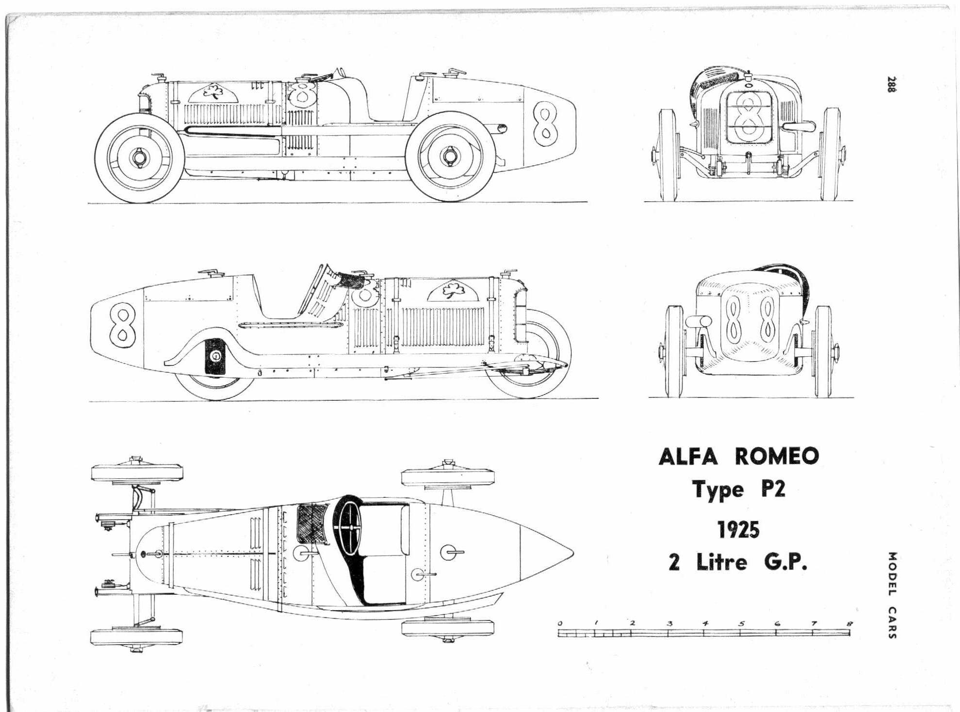 Alfa Romeo P2 blueprint