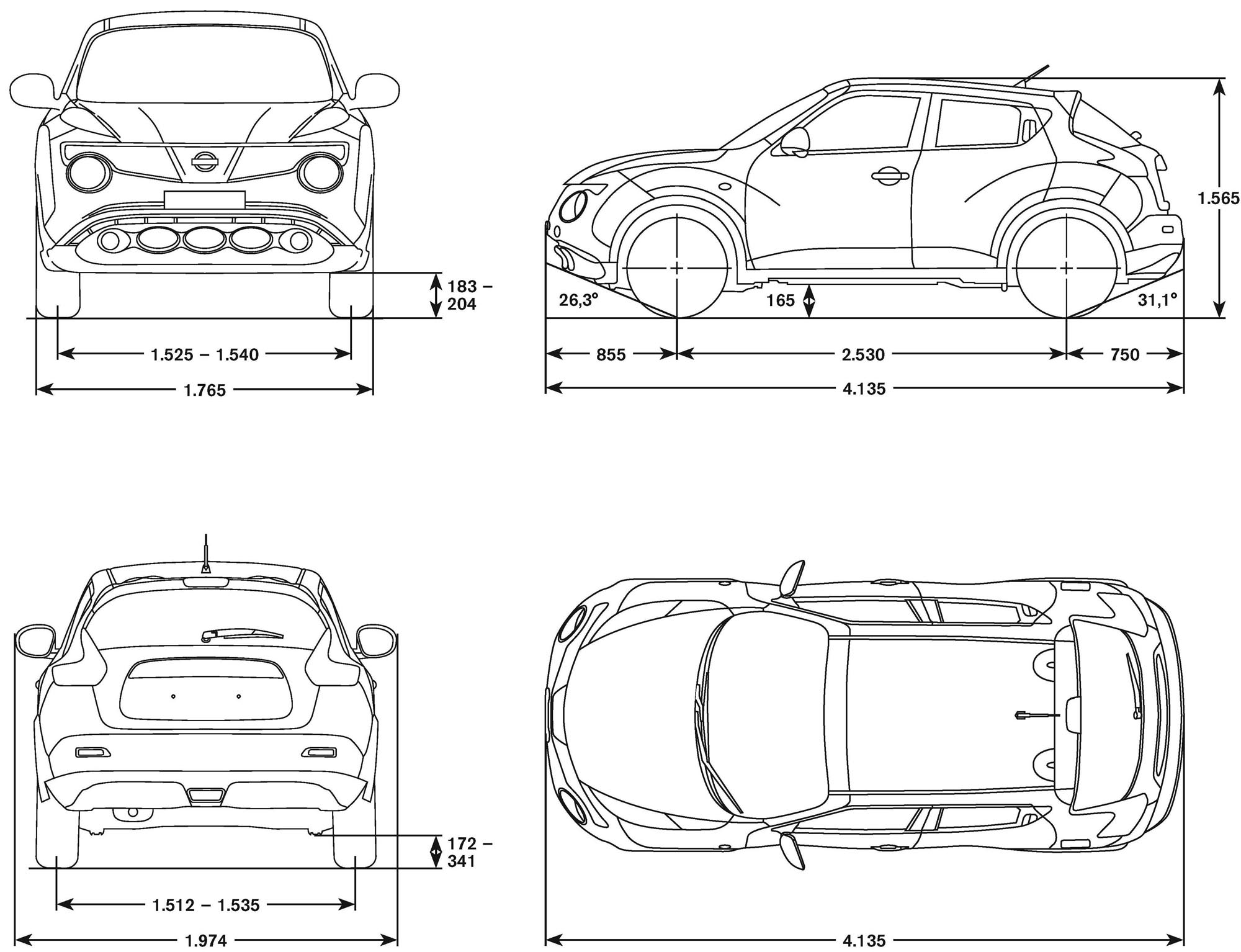 Nissan juke 2010 blueprint download free blueprint for 3d modeling nissan juke blueprint malvernweather Choice Image