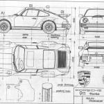 Porsche 911 Turbo blueprint