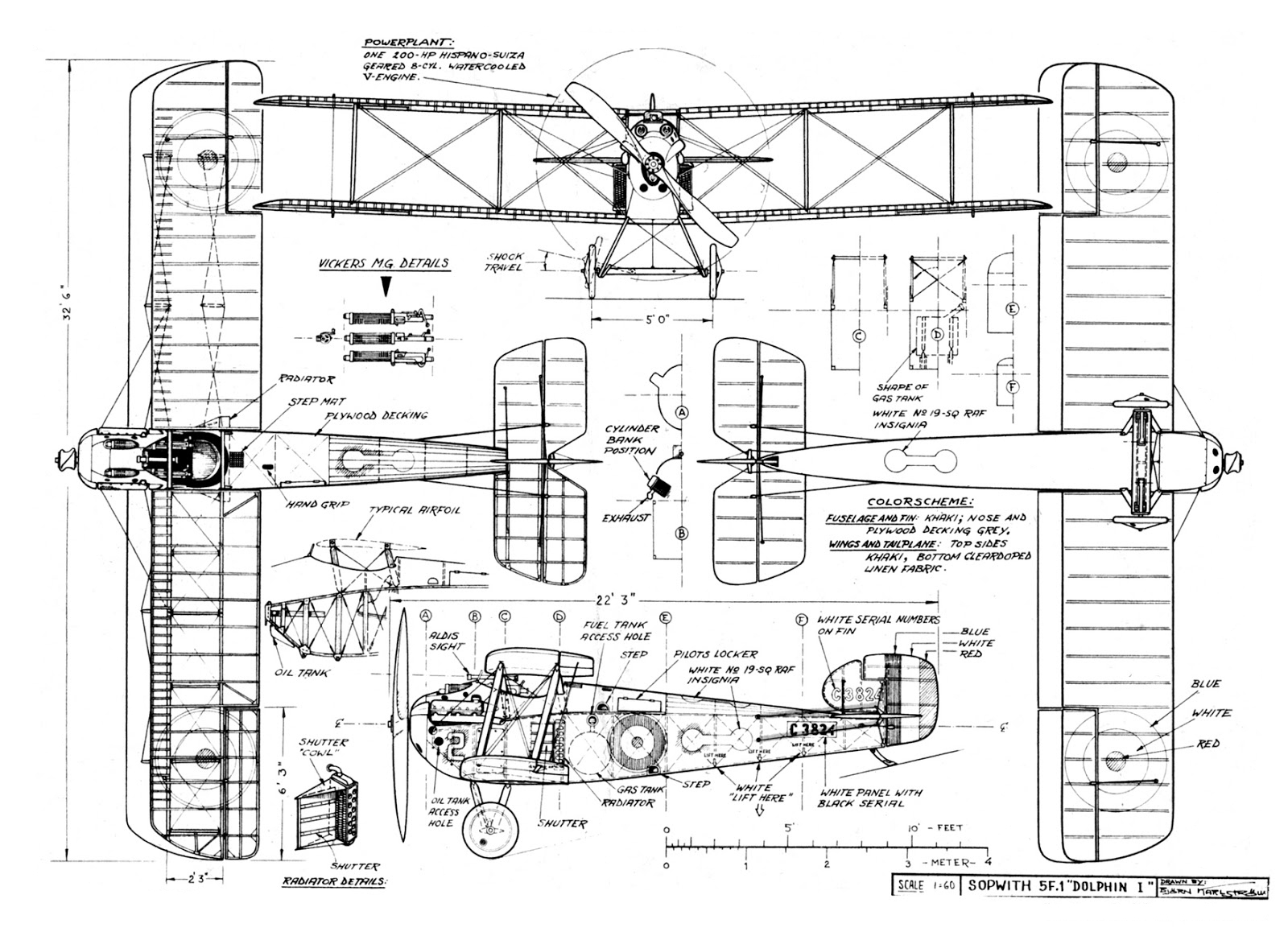 5F1 Dolphin blueprint