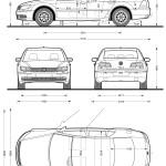 Volkswagen Phaeton blueprint