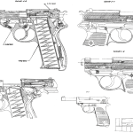 Walther P38 blueprint