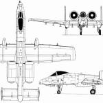 A-10 Thunderbolt II blueprint