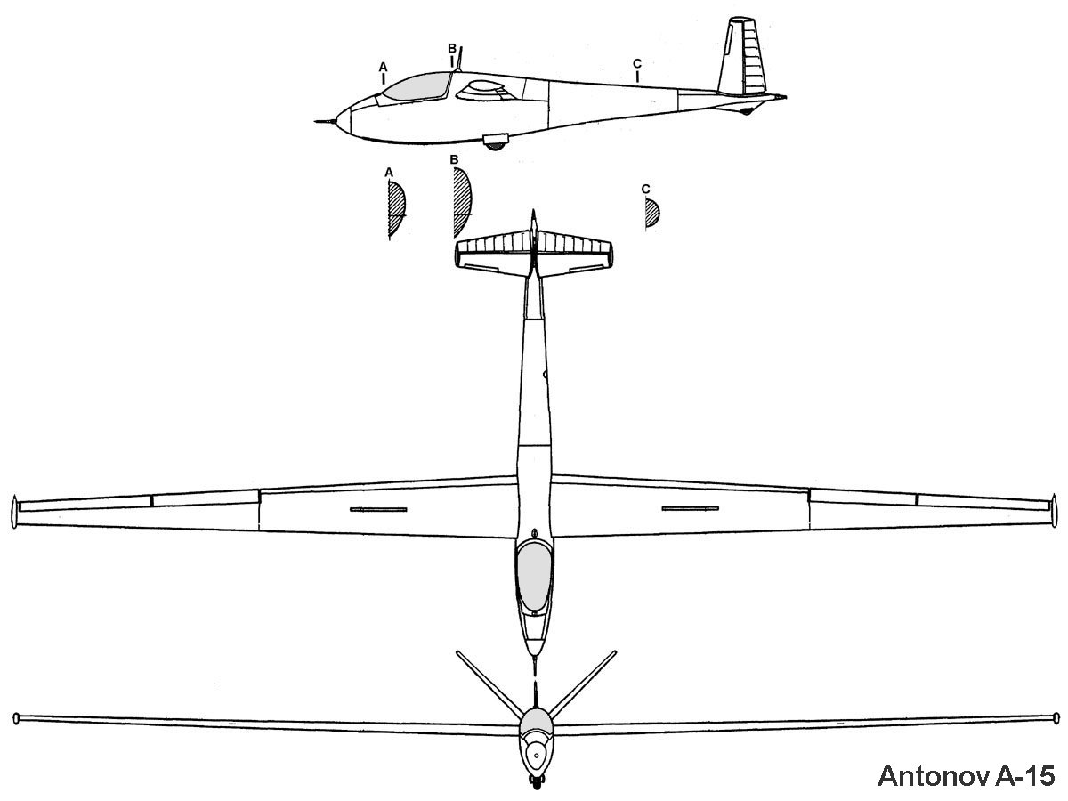 Antonov A-15 blueprint