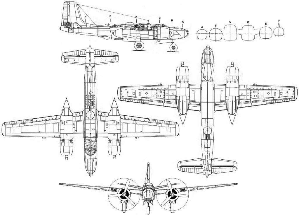 Douglas A-26 Invader blueprint