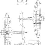 Mitsubishi A5M4 blueprint