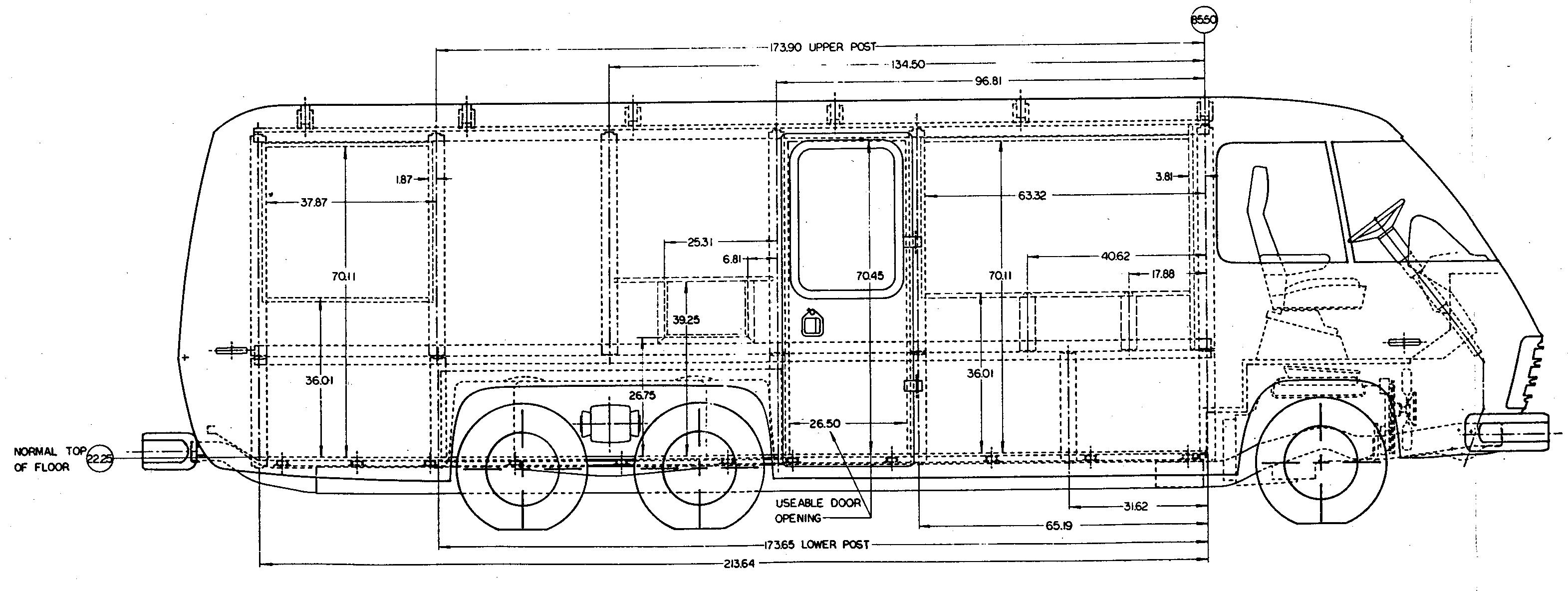 GMC Motorhome blueprint