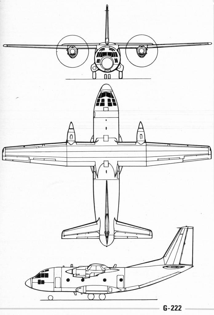 Aeritalia G.222 blueprint