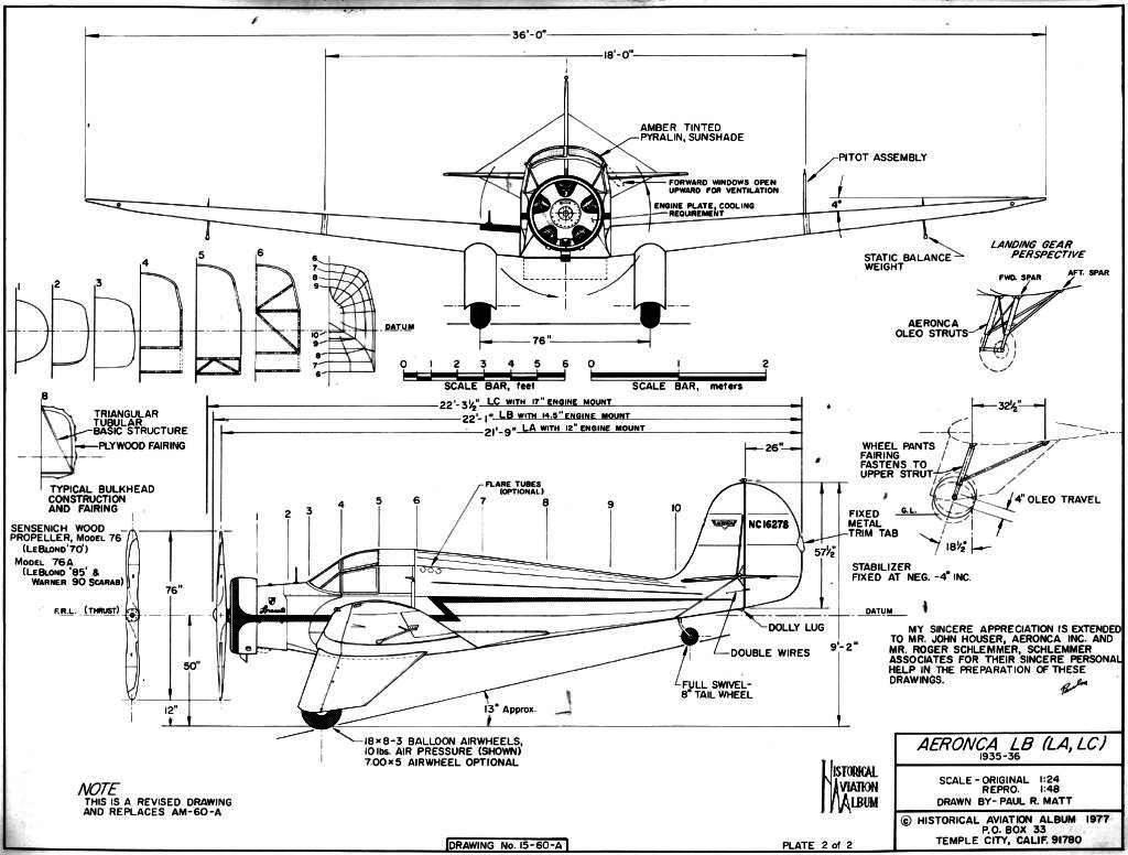 Aeronca LB blueprint