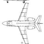 Aerospatiale Corvette blueprint