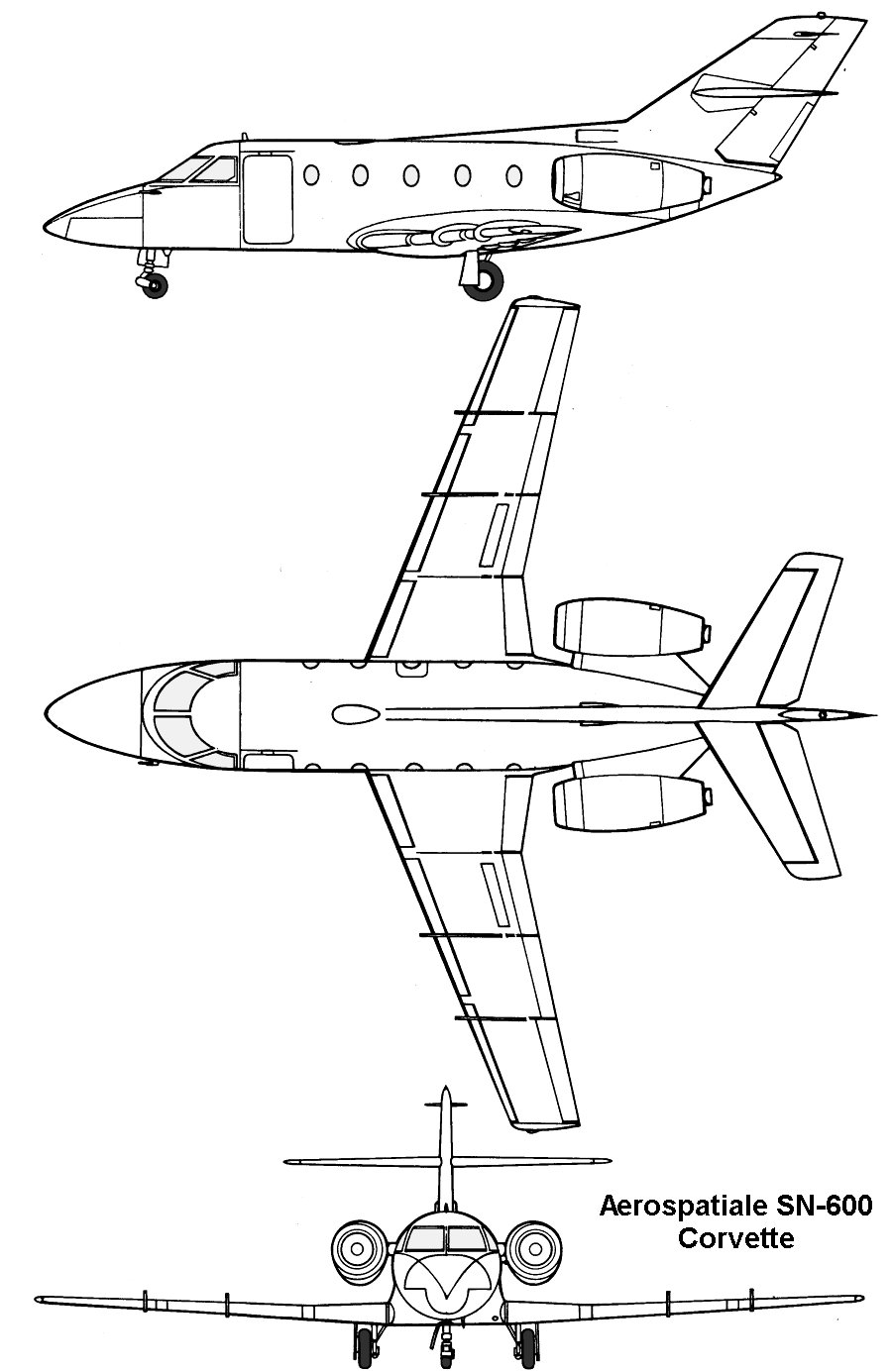 Aerospatiale Corvette blueprint